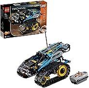 LEGO 42095 Technic Ferngesteuerter Stunt-Racer Spielzeug, 2-in-1-Rennwagen Modell mit Motorfunktionen, Rennwag