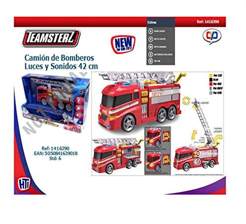 Teamsterz- Camion Pompiers 33CM Sons ET Lumiere, 1416390, Multicolore