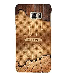 Love Can Never Die Quote 3D Hard Polycarbonate Designer Back Case Cover for Samsung Galaxy Note 7 : Samsung Galaxy Note 7 N930G : Samsung Galaxy Note 7 Duos