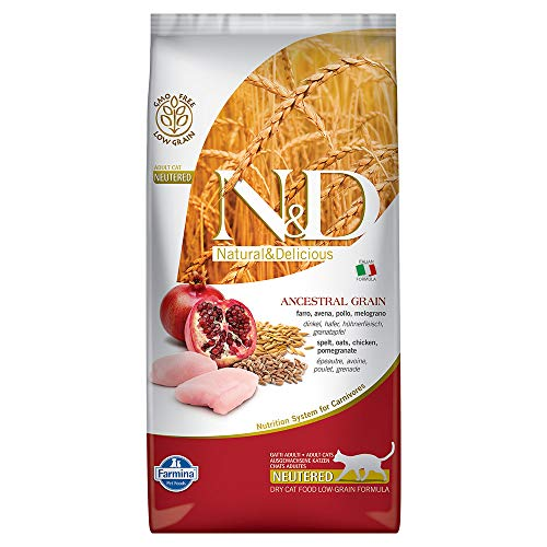 Farmina – Farmina N&D Pollo y Granada Adult Neutered Cat Low Grain – 1082 – 5 Kg.