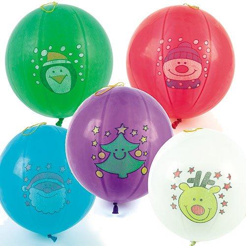 Baker Ross Christmas Punching Balloons Perfekte Stocking Stuffer für Kinder (6 Stück)