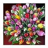 GMYANZSH DIY Diamant Stickerei Malerei Home Decor Blumen Bild Voll Platz Diamant Muster Mosaik Hand