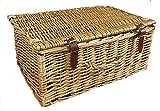 Valigetta o da picnic stile, con coperchio in vimini. Realizzati in tutta Willow gambi. In 3misure utili, Rattan e vimini, Natural, 28 L
