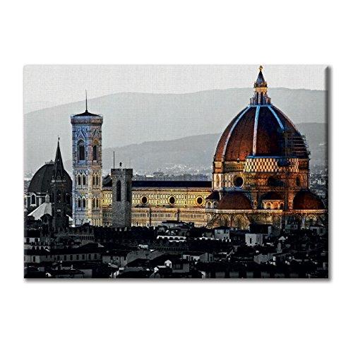 Florenz-panel (Leinwand-Panel Leinwand Italien Florenz Santa Maria del Fiore Mobel 100x70)