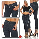 Buena Vista Damen Jeans Malibu C Stretch Denim Shadow Blue XXS