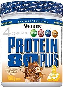 Weider, 80 Plus Protein, Haselnuss-Nougat, 1er Pack (1x 750g)