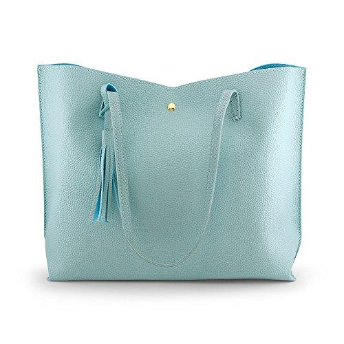 OCT17 Damen Einkaufstasche - Quasten Kunstleder Schulter handtaschen, modehandtaschen Satchel Messenger Bags einheitsgröße lila (Kalk Für Erwachsene Kostüm)