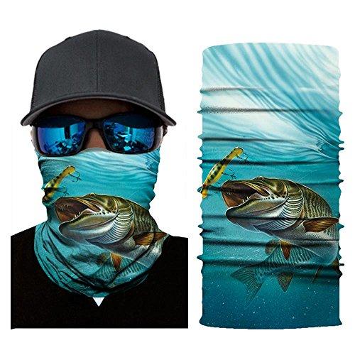 JSxhisxnuid, Multifunktionstuch Gesichtsmaske Motorradmaske Sturmmaske Maske für Motorrad Ski Snowboard Snowboard Paintball Fahrrad Bergsteigen Trekking Skateboarden Angeln (F) (Für Erwachsene Glocke Kostüm)