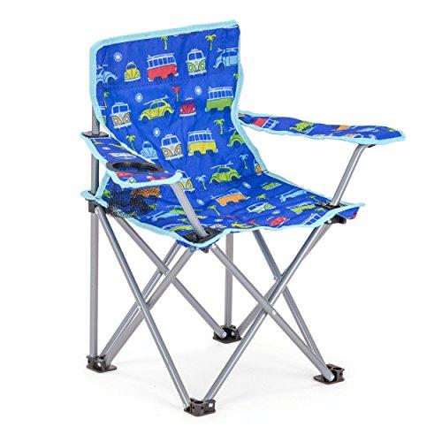 Board Masters Volkswagen Camping-Klappstuhl für Kinder - VW Bulli und VW Käfer Design - Tragetasche und Getränkehalter inklusive