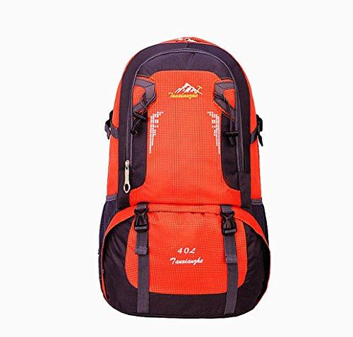 LQABW Nuovo Di Alta Capacità Di Svago Selvaggio Arrampicata All'aperto Borsa Multi-colore Del Panno Opzionale Impermeabile Resistente Allo Strappo Alpinismo Bag Oxford 40L Durable,Blue Orange
