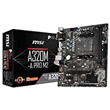 MSI A320M-A PRO M2 Motherboard 'mATX, AM4, DDR4, LAN, USB 3.2 Gen1, M.2, VGA, DVI-D, HDMI, 16M BIOS ROM, AMD RYZEN 1st, 2nd and 3rd Gen'