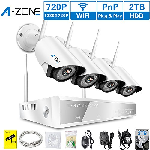 Charming A ZONE Home Security Camera Systems 4CH 960P Video Recorder 4 X IP Camera  720P 1.0MP Wirelss CCTV Outdoor Wireless Security Cameras For Home Wifi, ...