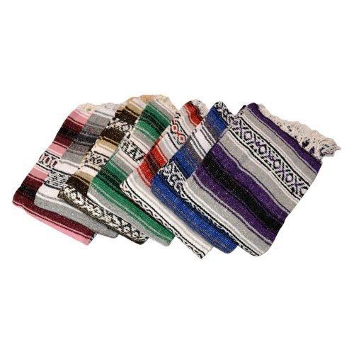Traditionelle YogaDirect Deluxe mexikanischen Pilates Yoga Decke Teppich Überwurf 147,3x 188cm von velmex (Mexikanischer Teppich)