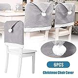 FESTNIGHT Coprisedie Schienale 1/4/6/8/10 PCS Protezione per sedie di Natale Protezione per sedie di Natale Non Tessuta Grigia