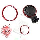1neiSmartech Ring Deko Rot Red Abdeckung Ring Fã¼R Auto Mini Cooper One D S Countryman In Aluminium Gehã¤Use Schale Fernbedienung Schlã¼Ssel Schlã¼Sselanhã¤Nger