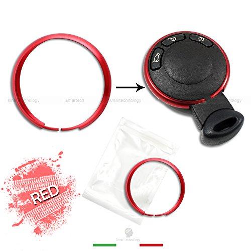 Classic-silber-3-licht (Ring Dekorative Abdeckung Ring für Auto Mini Cooper One D S Countryman in Aluminium Gehäuse Schale Fernbedienung Schlüssel Schlüsselanhänger)