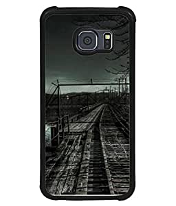 Fuson Designer Back Case Cover for Samsung Galaxy S6 Edge+ :: Samsung Galaxy S6 Edge Plus :: Samsung Galaxy S6 Edge+ G928G :: Samsung Galaxy S6 Edge+ G928F G928T G928A G928I (Rail Train Track Trench Journey Safar )