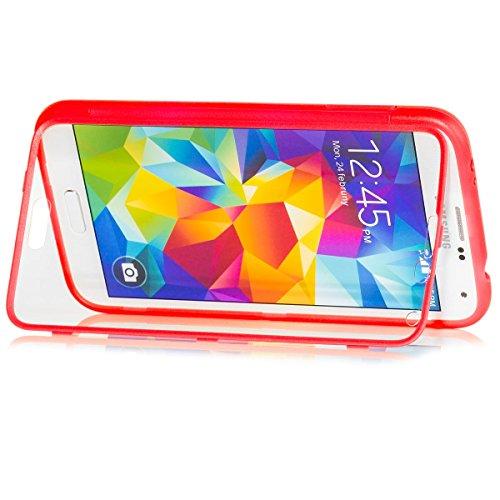 Samsung Galaxy S5 y S5 NEO | iCues táctil TPU Rojo | Caso duro al Air libre...