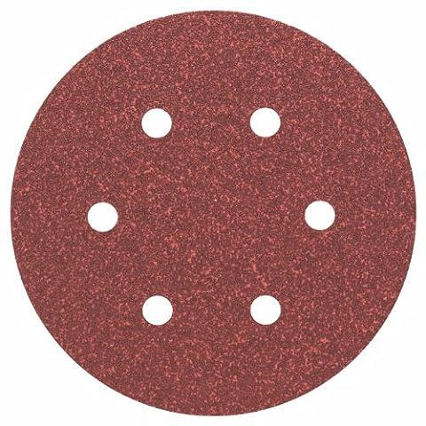 Bosch 2608605717 Disque abrasif pour ponceuse excentrique Ø 150 mm 6 Trous Grain 60 5 pièces