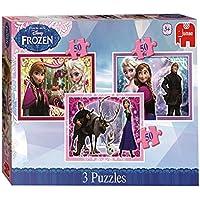 Jumbo 17441 - Puzzle Disney Frozen Trio, 3 x 50 Stück