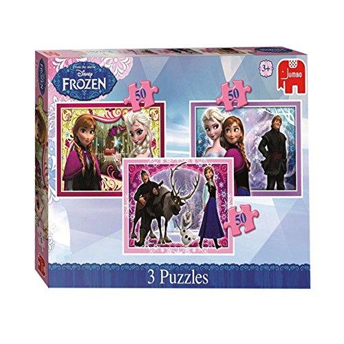 Disney Frozen Trio Jigsaw Puzzles, Confezione da 3, 50 Pezzi