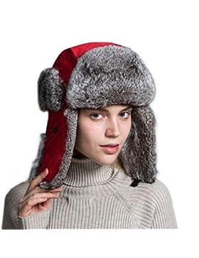 21deee32d619e8 Ferand Cappello Unisex Adulto Trapper con Pelliccia di Coniglio para Sci  Snowboard Inverno