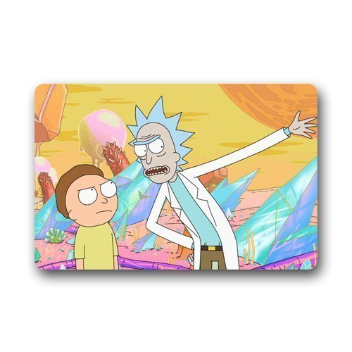 "Yuerb Felpudos Shower Curtain Doormat Rick and Morty Doormat (23.6""x15"