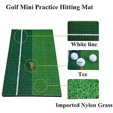 pgm golf Golpear Alfombrilla con goma Tee Soporte, 4Tipos para su información Talla:30*60cm Solid Color