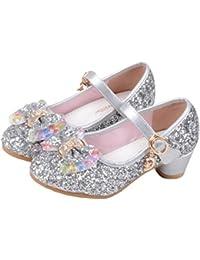 O&N Prinzessin Gelee Partei Absatz-Schuhe Sandalette Stöckelschuhe für Kinder