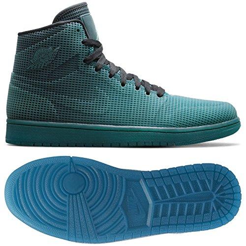 Nike Air Jordan 4lab1 pour homme Hi de balle de basket-ball chaussures de couture pour T-Shirts de Femme 677690 chaussures de chaussures avec chiots de, Homme, 677690-020, Multicolore - Noir (Black /Tropical Teal), 8 D(M) US