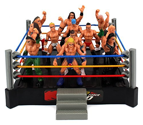 vt-mini-smack-battle-action-wrestling-toy-figure-play-set-w-ring-12-toy-figures-by-velocity-toys