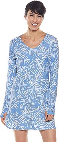 Coolibar UPF 50+ Damen Seacoast Schwimmkleid mit Sonnenschutz - blau - Small -