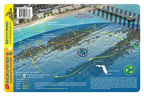Anglin's Pier Reef Broward County Florida Waterproof Dive Card -