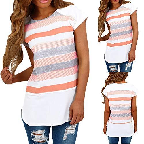 Damen T-Shirt, Damen Mode Spitze Floral Applique kalten Schulter Sommer Kurzarm Tops Leibchen Weihnachten Jahr ()