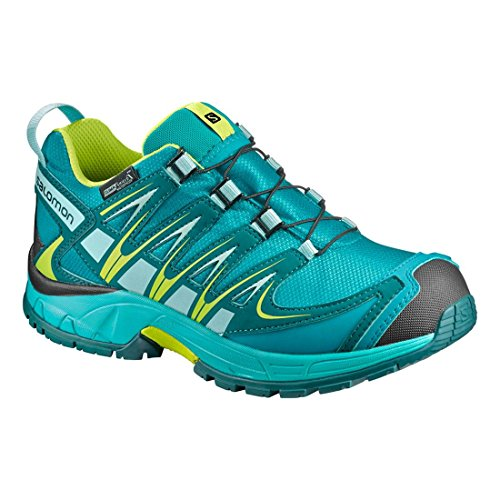 Salomon Unisex-Kinder Xa Pro Traillaufschuhe Blau (Deep Peacock Blue/ceramic/lime Punc)