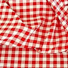 00370298cff5a Vichy-Karo in Rot   Weiß Baumwoll-Stoff kariert - Karogröße  10 x