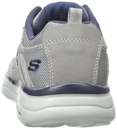 Skechers GlidesStatus, Sneakers Basses Homme Gris