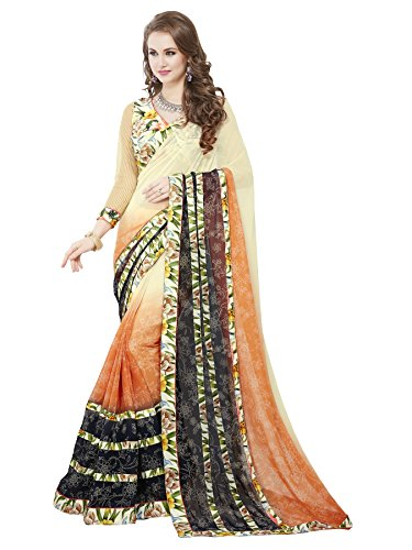 Dream Tree Sarees for Women by Dream Tree in Georgette with Printed Stripes