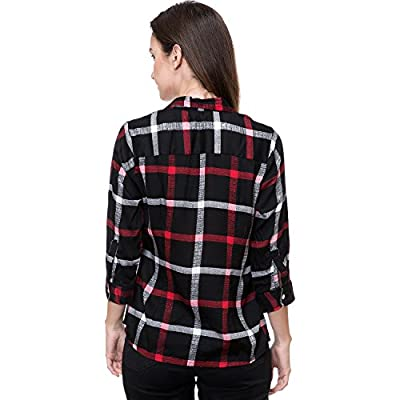 Deewa Black,Red White Rayon Casual Shirts For Women (DWS351BLR_$PP)
