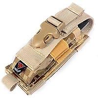 YAKEDA® portare tutti coltello pieghevole cintura guaina fodero di nylon a doppio Carry / Molle Strap Coltello Bag-C88044-1 (sabbia del deserto)