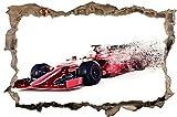 Rennauto Formel Autorennen Wandtattoo Wandsticker Wandaufkleber D1162 Größe 60 cm x 90 cm