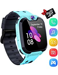Kids Smartwatch Music Player Phone - Smart Game Smart Music Watch Touch Screen for 3-12 years Boys Girls with Came Slot SOS Game for SIM Card Childrens Gift [1GB Micro SD Included]
