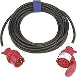 Ausrüstung Strom Verlängerungskabel 16A Schwarz 25m 362.425