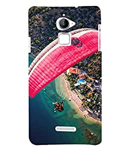 Paragliding 3D Hard Polycarbonate Designer Back Case Cover for Coolpad Note 3 Lite :: Coolpad Note 3 Lite Dual SIM