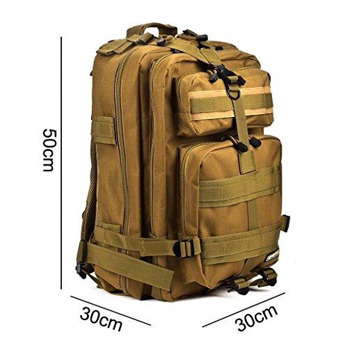 Imagen de eyourlife rfid  militar táctica molle para acampada camping senderismo deporte backpack de asalto patrulla para hombre mujer 40l amarillo oscuro alternativa