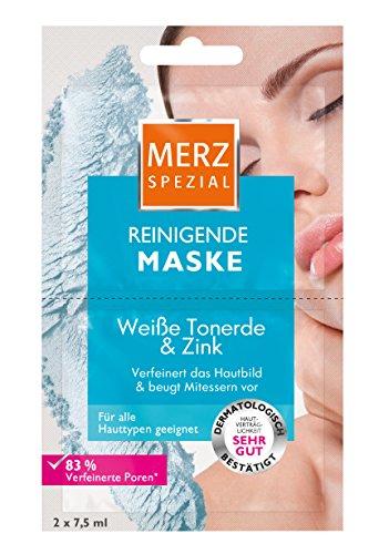Weiß Reinigende Maske (Merz Spezial Reinigende Maske Weiße Tonerde und Zink, 15er Pack (15x 15 ml))