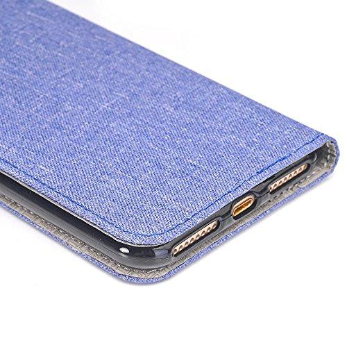 iPhone Case Cover Housse IPhone 7 Plus, Cowboy Jeans Texture Motif Portefeuille en Cuir avec Slot Carte pour Apple IPhone 7 Plus ( Color : 2 , Size : IPhone 7 Plus ) 2
