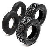 2x Neumáticos abrigo Manguera Segadora, 16x 6.50–84PR ángulo Válvula Césped Tractor