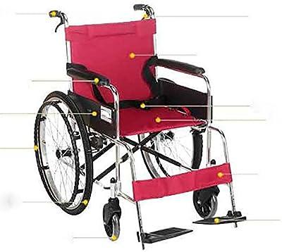 GUO Silla de ruedas plegable de transporte ligero de aluminio