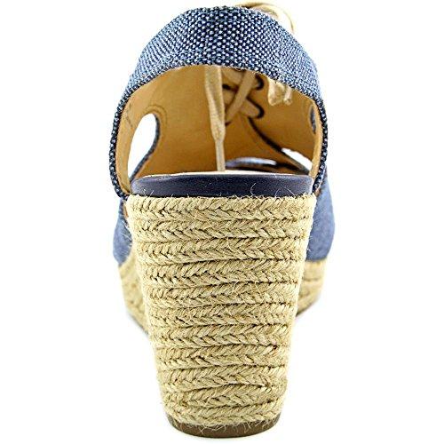 Bella Vita Gracia Femmes Large Toile Sandales Compensés blue
